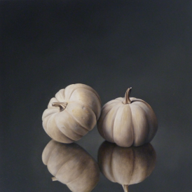 Two White Pumpkins