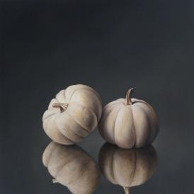 Two White Pumpkins